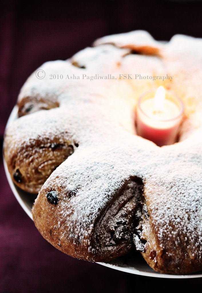 Stollen with Candle