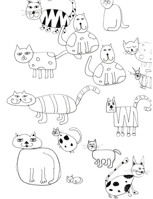 Quick Cat Sketches