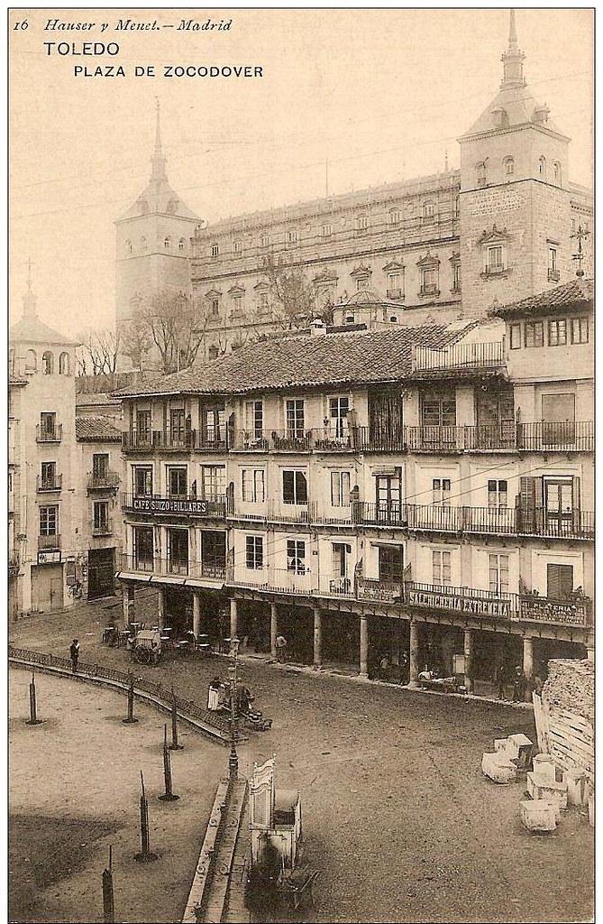 Plaza de Zocodover hacia 1900. Foto Hauser y Menet