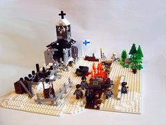 War of Lapland (Eturior) Tags: winter finland germany war lego contest lapland ww2 diorama eturior