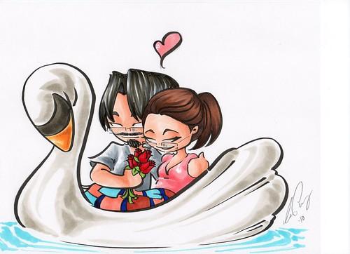 Tim Geni swan boat