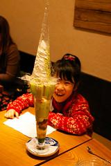 630mm (akiko@flickr) Tags: food girl kids tokyo surprise sweets parfait sakuracafe