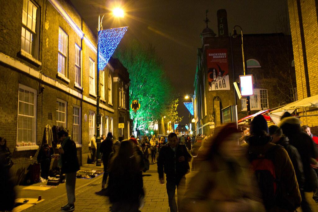 Old spitalfield market & Brick lane à Shoreditch, London ...