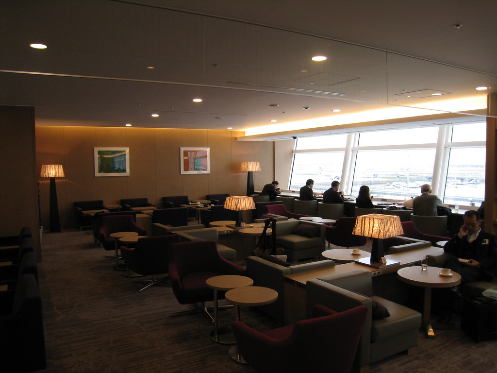 JAL Sakura Lounge at Haneda