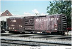 CRR Boxcar 5844 (Robert W. Thomson) Tags: railroad train tennessee railway trains railcar traincar boxcar rollingstock kingsport crr clinchfield