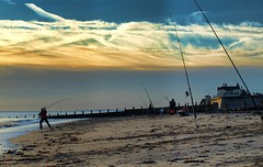 PB134613 Anglers on Hornsea Beach (pete riches) Tags: sea sky beach clouds sunrise coast fishing sand surf waves fishermen shingle resort northsea lures rods beachfishing casting nylon cloudporn bait waders wellingtons carbonfiber anglers fishingline fishingrod carbonfibre eastyorkshire hornsea angling holderness waterproofs monofilament seaanglers fishingtackle eastyorks hornseabeach athornsea peteriches lugwoms jupiter1uk