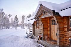 DSC_0890 (Siroccosky) Tags: christmas xmas winter snow skiing sweden logcabin snowmobile varmland