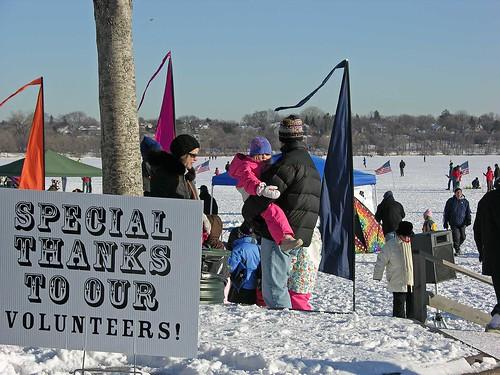 Winter Kite Festival 2009 volunteers