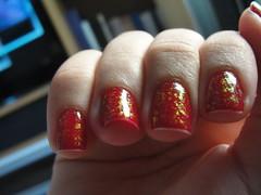 volúpia- risqué+ flocado (Rafaela Oliveira) Tags: nail polish unha risqué esmalte flocado