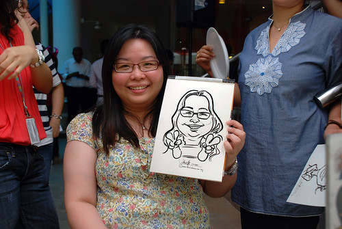 Caricature live sketching for BAT White Christmas Party 2010 - 23