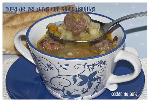 Sopa de verduras albondiguillas_3