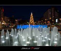 Almera en Navidad (scarabaeus sacer) Tags: color luces 9 nocturna almera 2011 nikond300 a3bconstructive jatm64