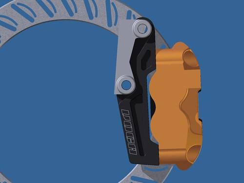 Soporte pinza VOCA RACING para acoplar pinza delantera Stage6 4 pistones para Pitbike 5319877539_bd37ff66e6