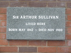 Photo of Arthur Sullivan grey plaque