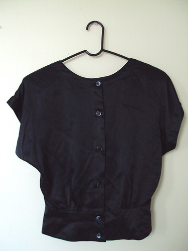 Silky Satiny Top, button-up back