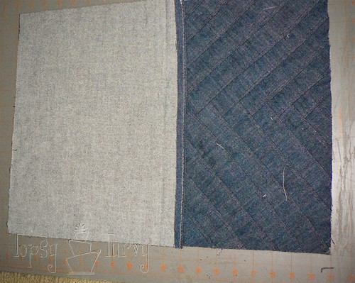 denim herringbone pillow designing