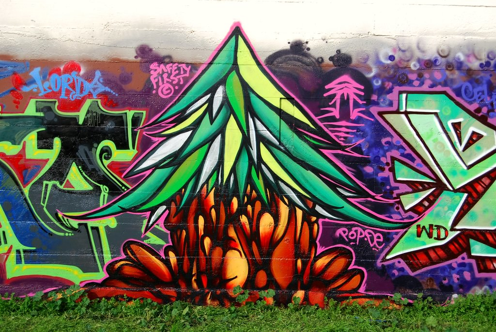 Plant Trees Graffiti Piece.