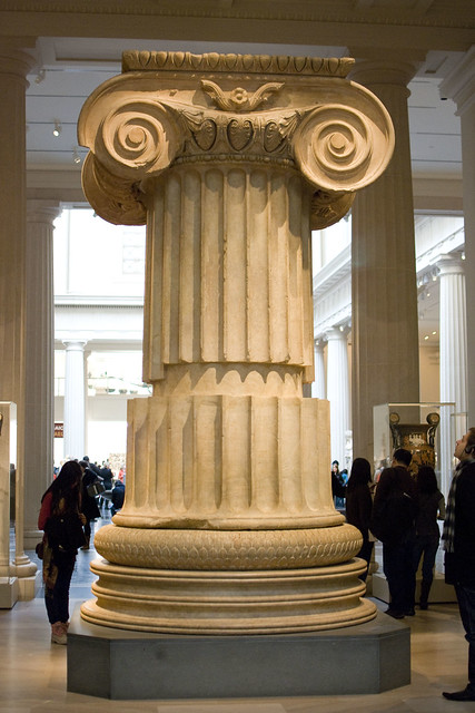 d5 MET Marble column from the Temple of Artemis at Sardis
