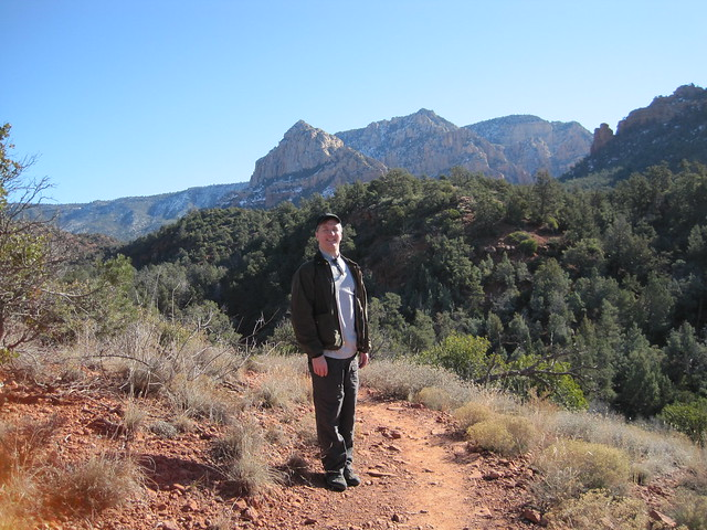 Your Blogger on the Huckaby trail, Sedona