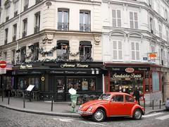 Paris - Rue Chappe (Añelo de la Krotsche) Tags: paris vw montmartre coccinelle vocho käffer ruechappe