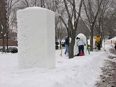 snow block row