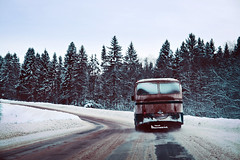 (dSavin) Tags: travel winter bus russia driver spruce 2011 winterroad frozenwindow yaroslavlregion