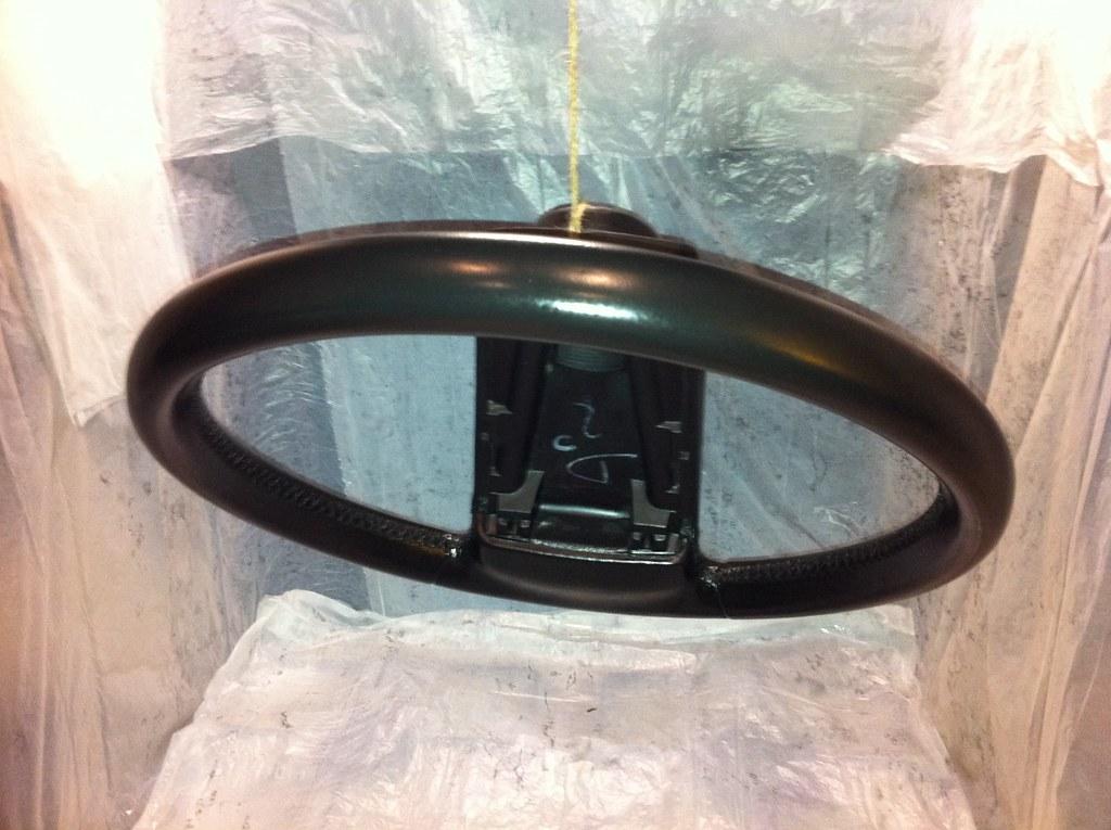 Steering Wheel During Refurb.