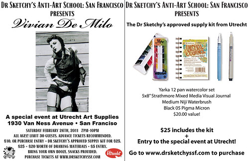 Dr Sketchy's Anti-Art School: San Francisco presents Vivian De Milo