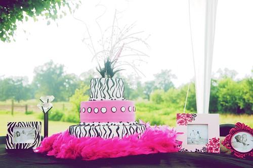 pink and white zebra cake. Pink and Black and White Zebra