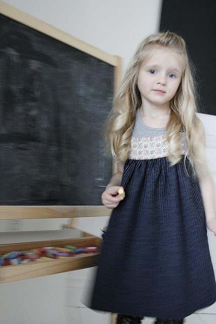 A girl in Misha Lulu...