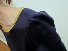 Jersey knit dress (flossieteacakes) Tags: dress navy knit shift stretch jersey builtbywendy sewu dresspattern homestretch wendymullin