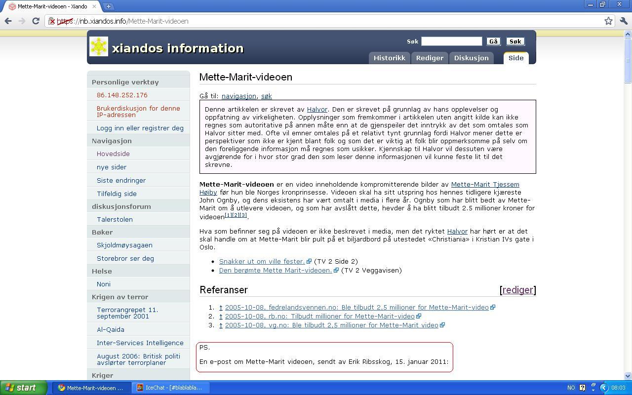 oppdaterte xiandos information