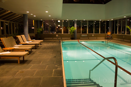 The pool at the Parker Meridien  in NYC