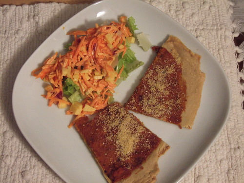 Grain Free PIzza and Carrot Slaw