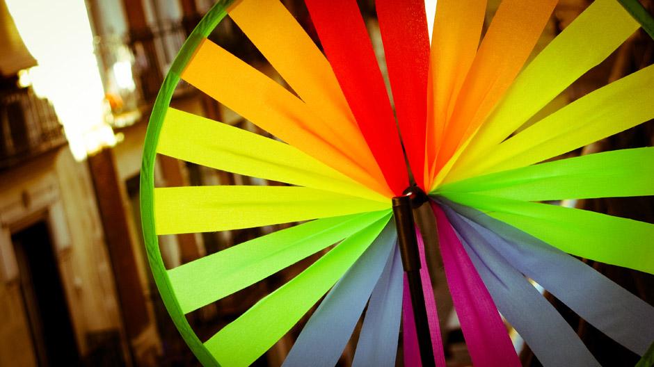 Fotografía del Sr. Clavel, nuestro nuevo molinillo de viento