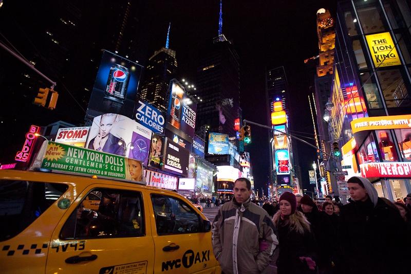 Огни большого города - Бродвей и Time Square