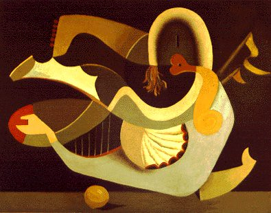 Seligmann, Kurt (1900-1962) - 1933 The Harpist (Smart Museum of Art at the University of Chicago, U.S.A.)