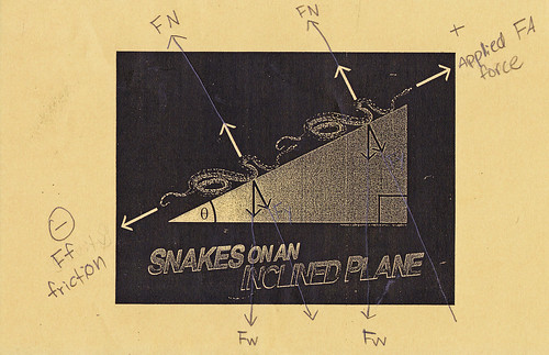 Snakes on an Inclined Plane by