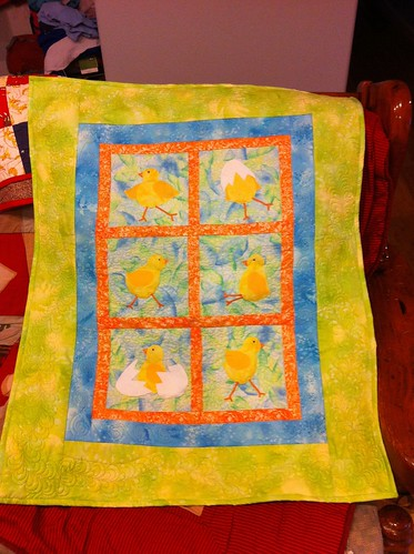 Baby chick quilt