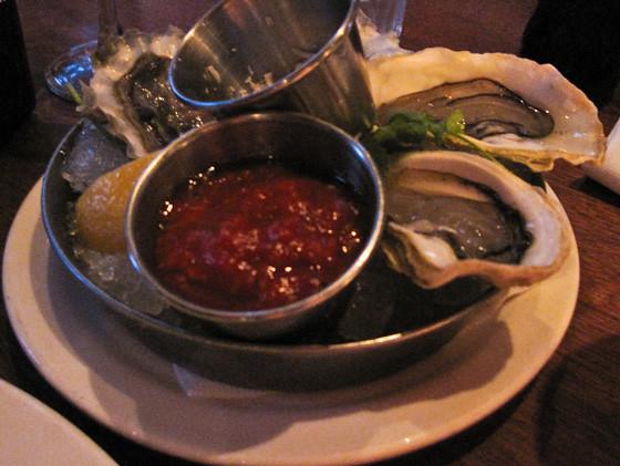 Oysters at Sandbar Restaurant