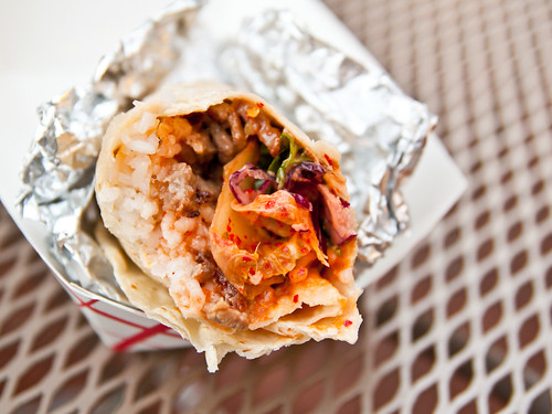 Korean BBQ short rib burrito
