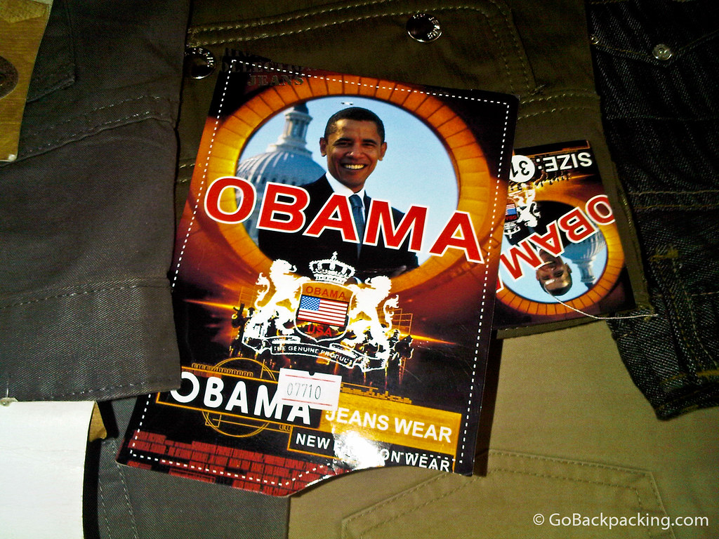 Obama jeans for sale in Rwanda