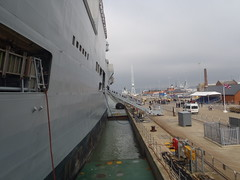 Side on View (Seanathon) Tags: boat ship historic portsmouth aircraftcarrier arkroyal dockyard hmsvictory