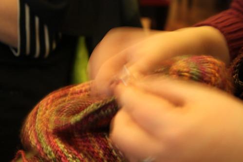 Ontem foi dia de encontro de tricot
