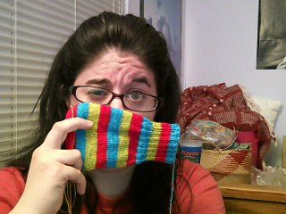 I've got stripes, stripes across my... face? by knitkimberknit