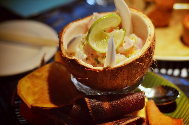 Coconut ono ceviche