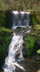 Weir on river Dean, Bollington