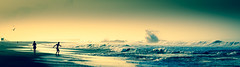 Dancing wave, dancing man (carogray1) Tags: dancing seascape landscape panoramic beach capture wave freedom nature atmospheric joy life