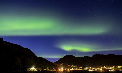 Aurora Borealis Over Vik Iceland 10/2016