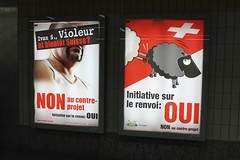 Poster produced by the right-wing Swiss People...